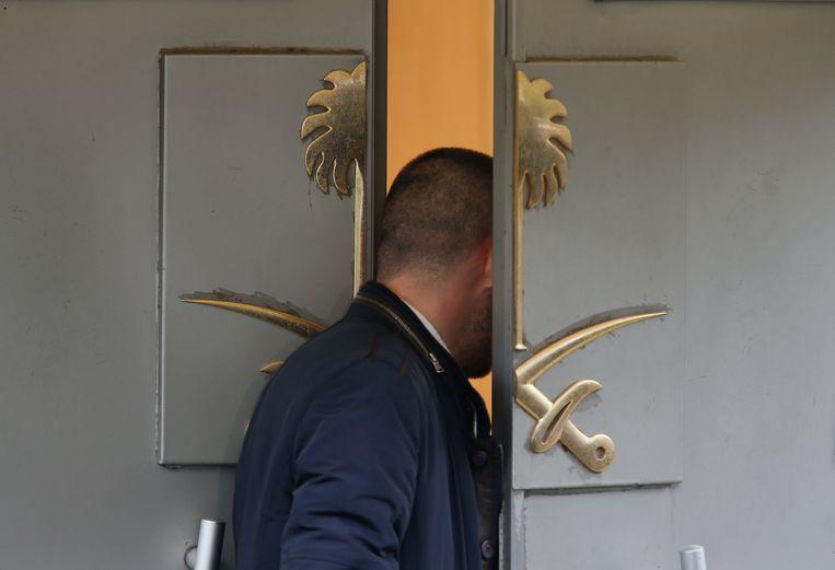 Het consulaat in Istanboel waar Khashoggi stierf. Beeld AP