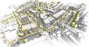 Een impressie van hoe het nieuwe plein bij het winkelcentrum aan de Hoofdstraat in Mierlo-Hout (Helmond) er uit kan gaan zien.