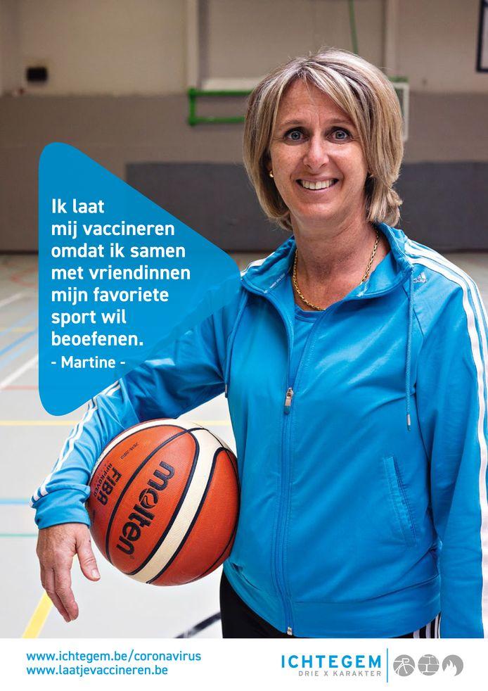 Zes inwoners van Ichtegem spelen een hoofdrol in een nieuwe vaccinatiecampagne: Martine
