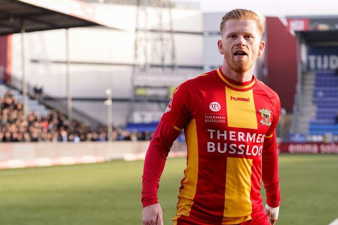 Richard van der Venne na zijn doelpunt tegen FC Den Bosch.