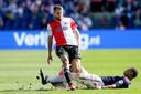 Bart Nieuwkoop afgelopen zondag in actie tegen FC Twente.