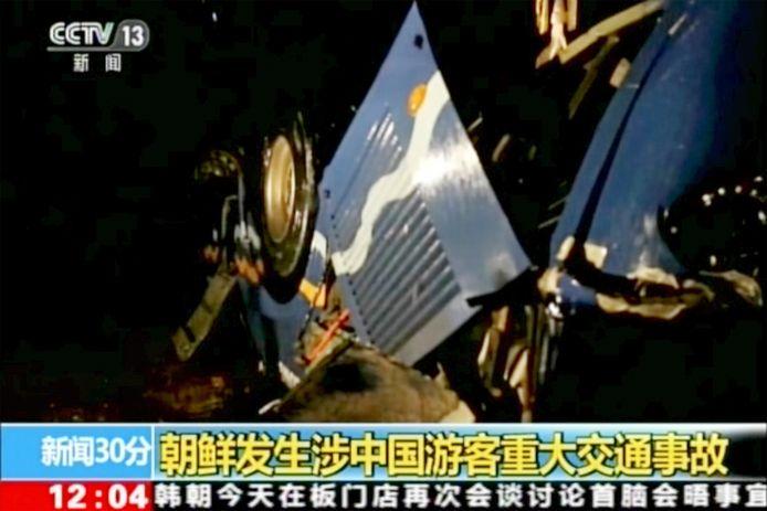 Bij het ongeval met de bus kwamen 32 Chinese reizigers en vier Noord-Koreanen om het leven.