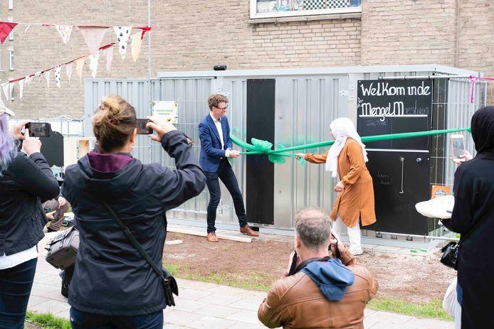 Opening moestuin door Martijn Balster.