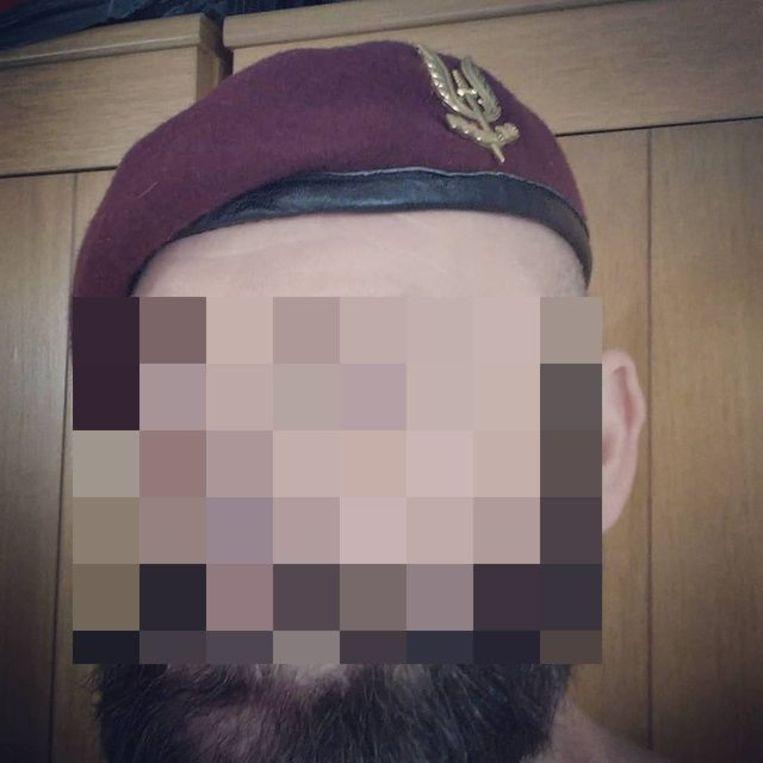 M. V., een Limburgse oud-militair die deel uitmaakt van het Vlaams Legioen Beeld Instagram