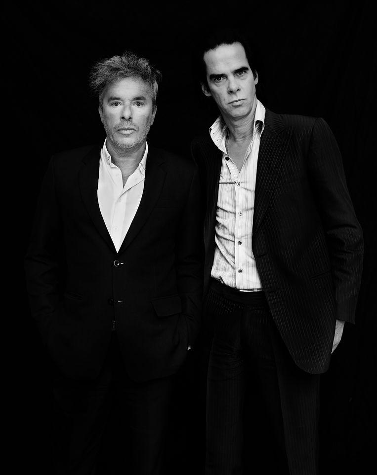 Nicholas Lens en Nick Cave. Beeld Charlie De Keersmaecker