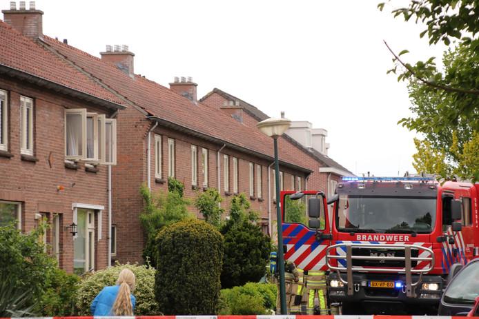 Brand door kortsluiting in een woning aan de Paulus Potterstraat in Veenendaal.