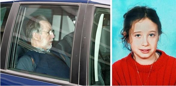 Links: Michel Fourniret in 2008. Rechts: Estelle Mouzin, zij verdween in 2003.