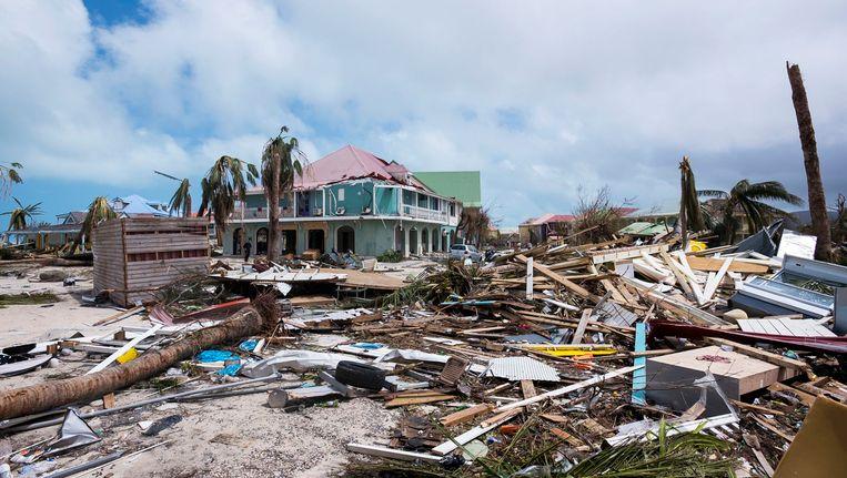 Sint-Maarten na de doortocht van orkaan Irma.