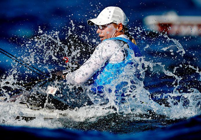 Marit Bouwmeester, in actie op de Spelen van Tokio, is de nieuwe ambassadrice van de Allianz Regatta.