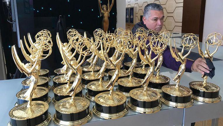 De beeldjes voor de uitreiking van de Emmys Beeld anp