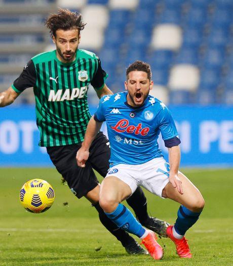 Naples partage à Sassuolo au terme d'un match à suspense