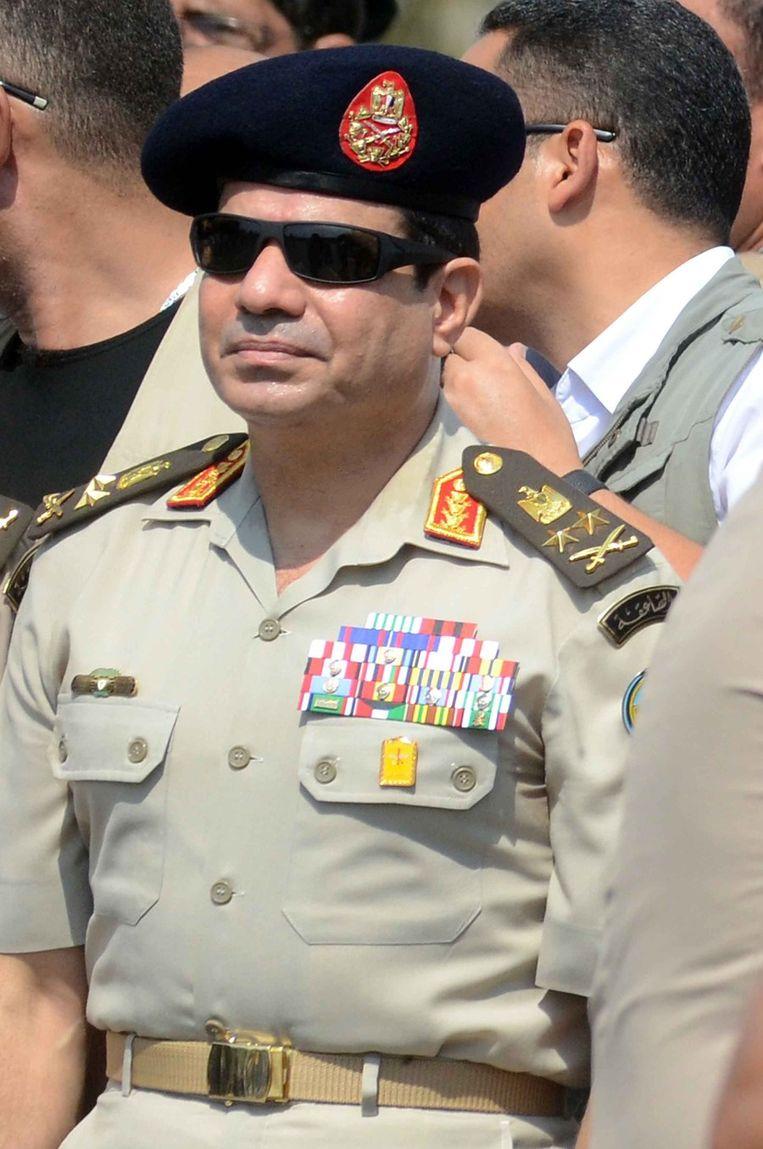 De militaire leider Abdel al-Sisi. Beeld BELGA