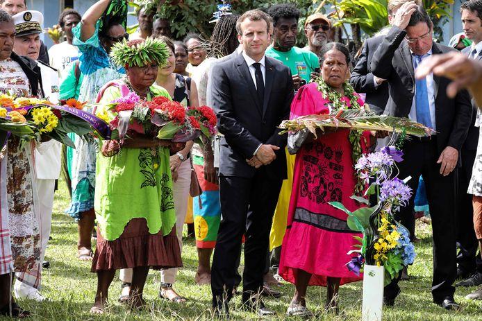 Frans president Emmanuel Macron bevindt zich momenteel over de zee, in Nieuw-Caledonië.