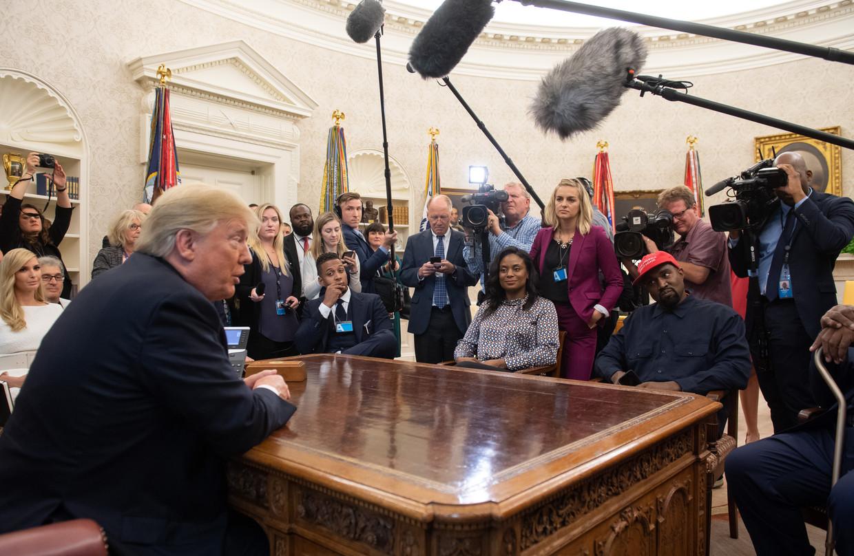 Kanye West op bezoek in het Witte Huis, in 2018. Beeld Hollandse Hoogte / AFP