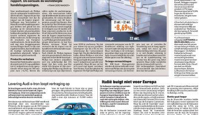 Handelsvetes duwen Philips bijna 9% lager