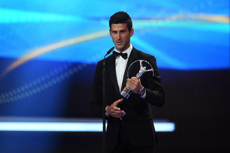 De voorbije twee jaar ging de prijs naar Novak Djokovic Beeld Getty Images for Laureus