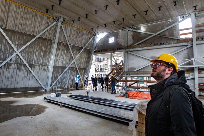De bouwwerkzaamheden voor het filmtheater Mimik, voorheen Viking.