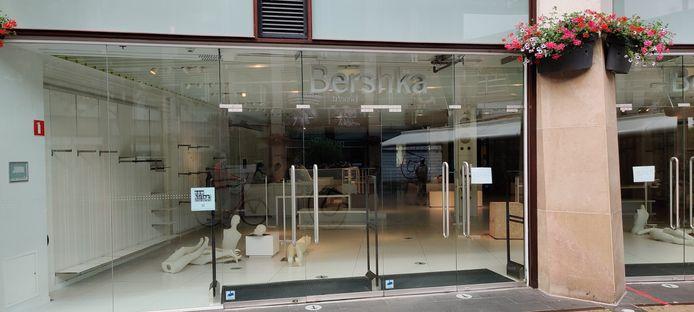 Het gesloten filiaal van kledingzaak Bershka in Amersfoort.