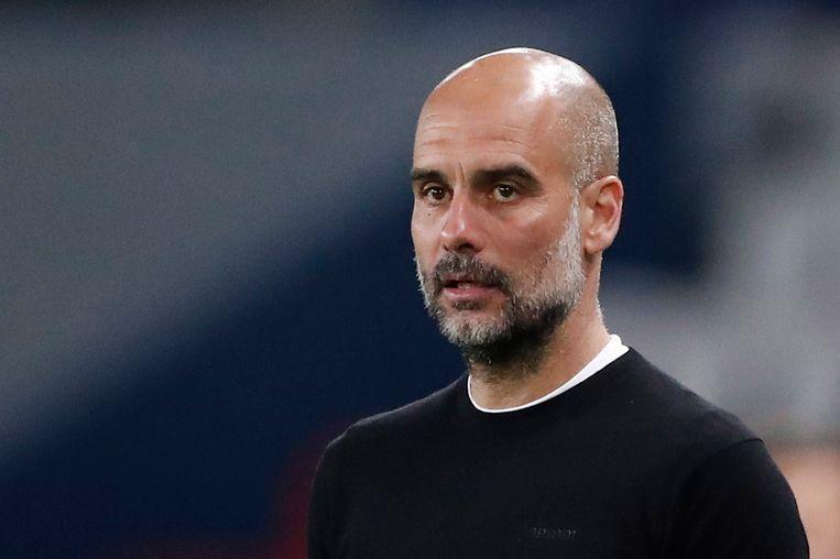 Pep Guardiola, de Spaans-Catalaanse coach van Manchester City. Beeld REUTERS