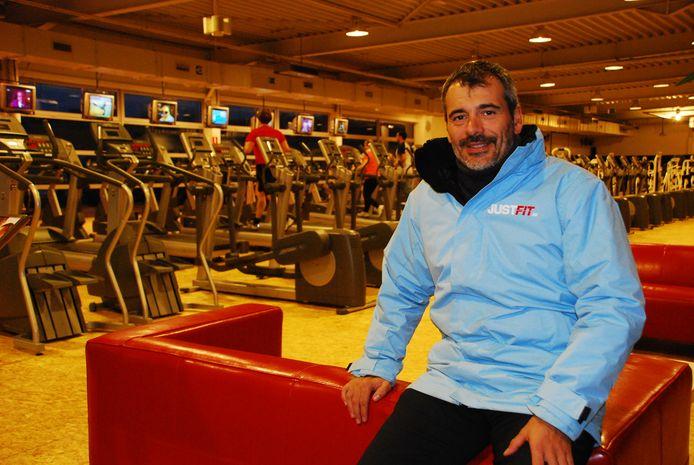 Ondernemer Dick Vande Vyvere in betere tijden. Zijn fitnesscentra kwamen later in handen van Basic Fit.