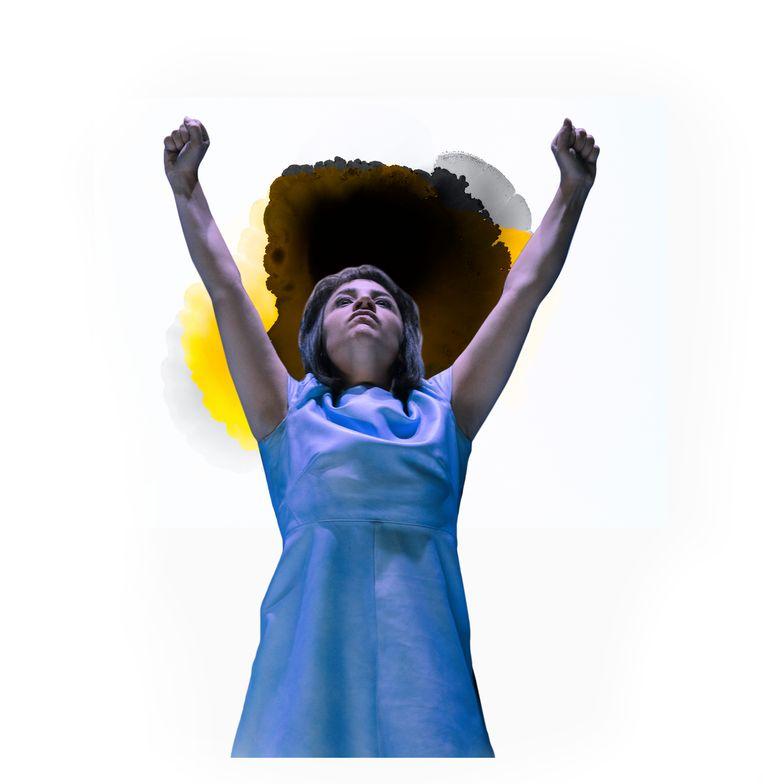 Sarah Bannier als Ifigeneia in Ifigeneia Koningskind Beeld Bowie Verschuuren / bewerking Studio V