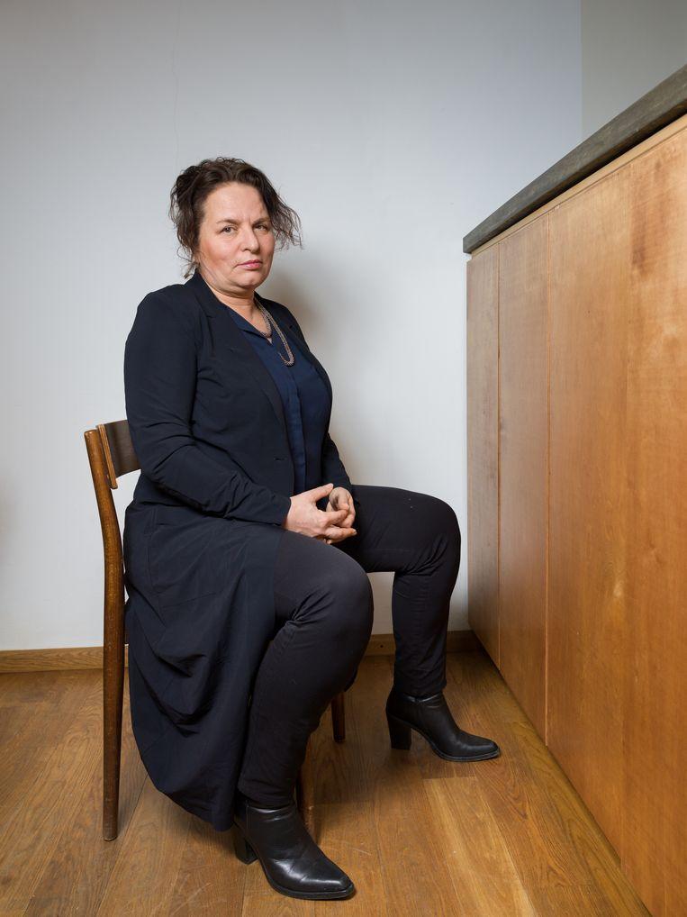 Marleen Stikker in haar huis in Amsterdam. Beeld Ivo van der Bent