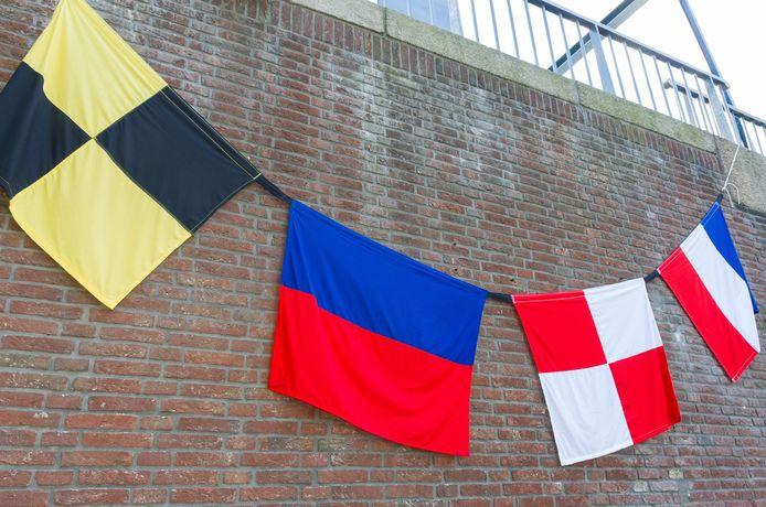 Bij Camping Koffietent hangen al vlaggen