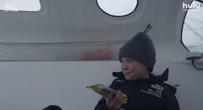 Greta Thunberg lors de sa traversée de l'Atlantique.