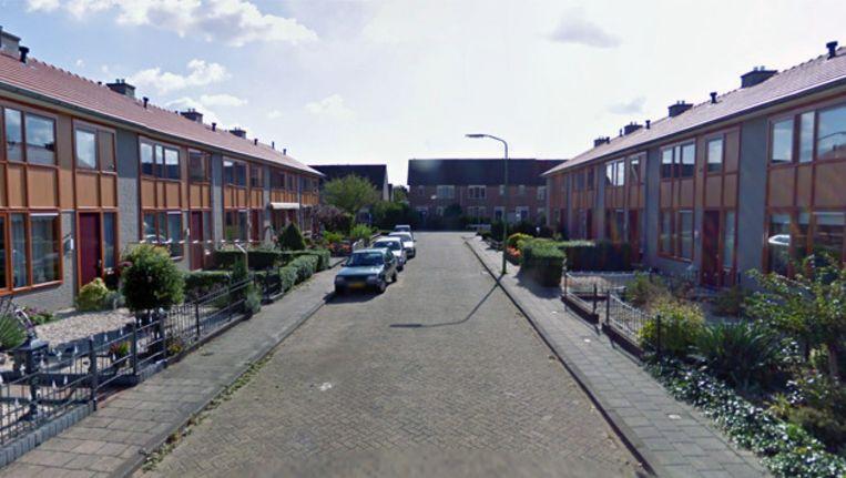De straat waar het incident zich voordeed. Beeld Streetview