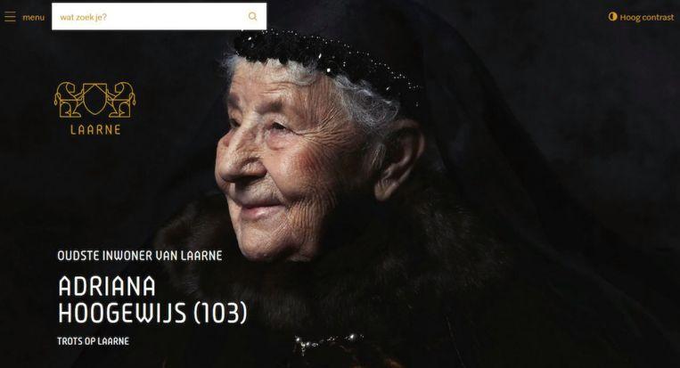 De vernieuwde website in de nieuwe huisstijl van Laarne.