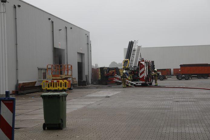 Brand bij recyclingbedrijf Roosendaal.