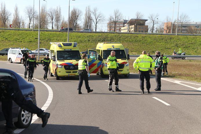 Gewonde bij ongeluk op de A4.