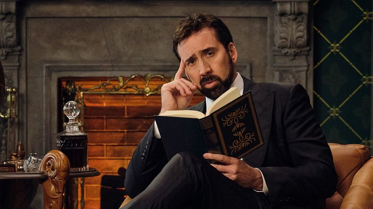 Nicolas Cage in 'History of Swear Words'  Beeld Adam Rose/Netflix