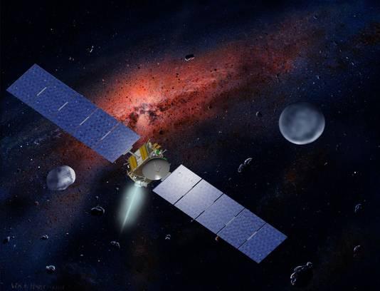 Artistieke impressie van de Dawn-ruimtesonde.