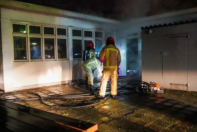 Brand bij kringloopwinkel Emmaus in Eindhoven.