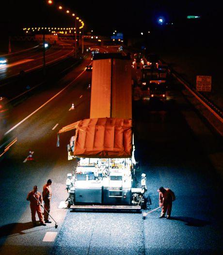 A15 tussen Deil en Gorinchem dicht voor nieuwe asfaltlaag