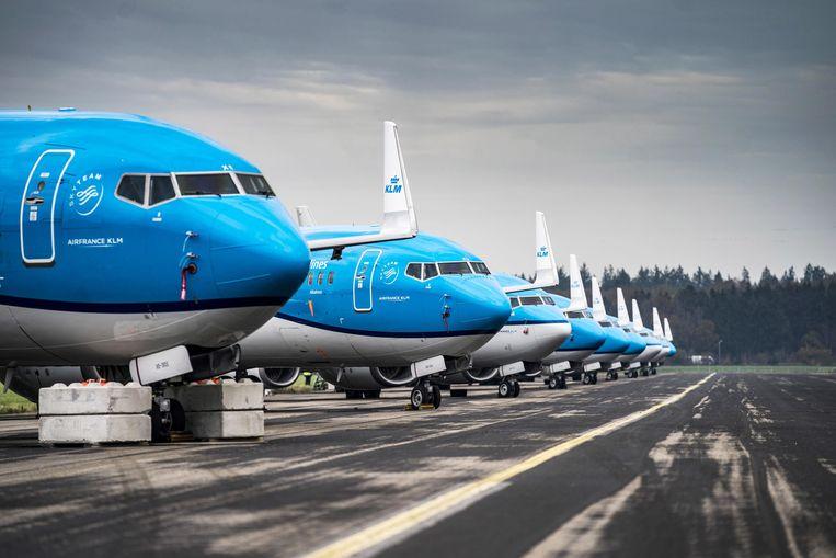 Air France-KLM lijdt een verlies van 7,1 miljard euro, en volgens analisten valt dat zelfs nog wat mee. Beeld EPA