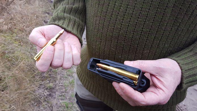 Een wild zwijn mag alleen afgeschoten worden met een kogel van het kaliber 7x65r (formaat sigaar).