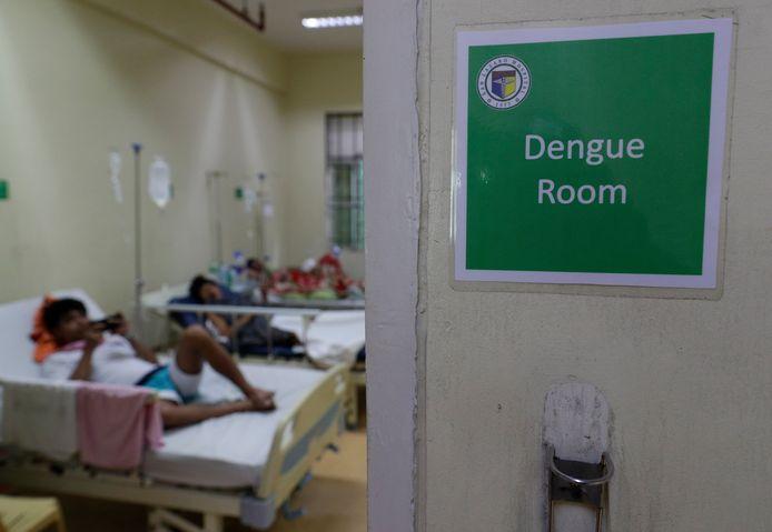 Patiënten verblijven in een speciale dengue room in de Filipijnen.