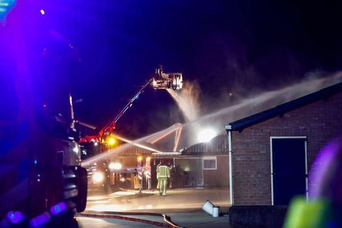De zeer grote brand in de stal in Lierop.
