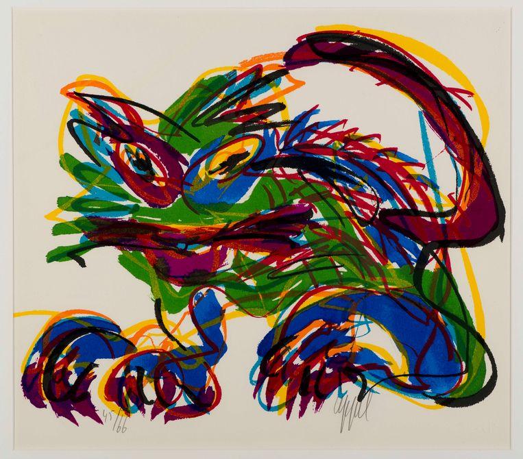 Karel Appel (1980). Beeld Het KattenKabinet