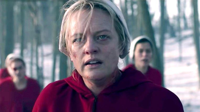 Elisabeth Moss in jaargang 4 van 'The Handmaid's Tail'. Beeld RV