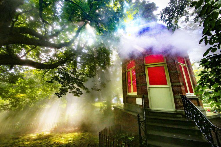 In het Wevelgemse gemeentepark is zaterdag het kunstwerk met de bijtjes officieel geopend.