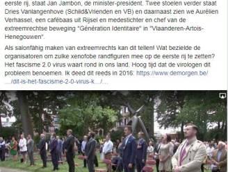 Extreemrechtse Fransman op eerste rij op Guldensporenviering en dankzij viroloog Van Ranst heeft iedereen dat gezien