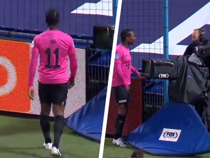 Elia stapte na de match tot bij de cameraman.