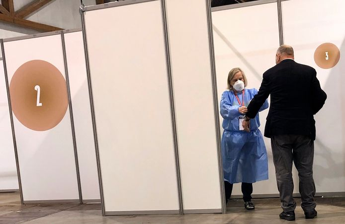 Le centre de vaccination du Heysel, la semaine passée, à Bruxelles