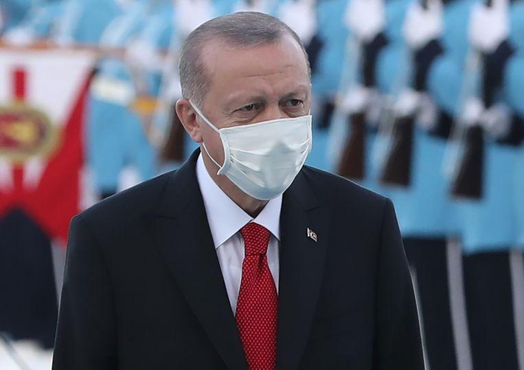 De Turkse president Erdogan. Beeld AFP