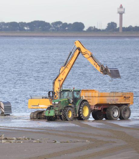 Strandje Perkpolder wordt zomerklaar gemaakt