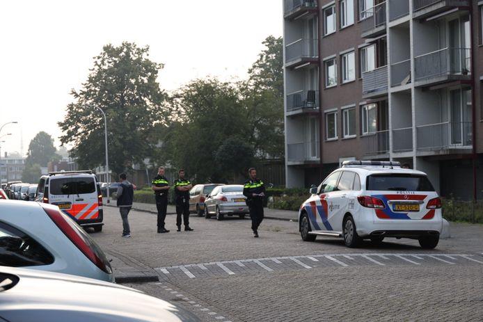 Politie-actie in Waalwijk.