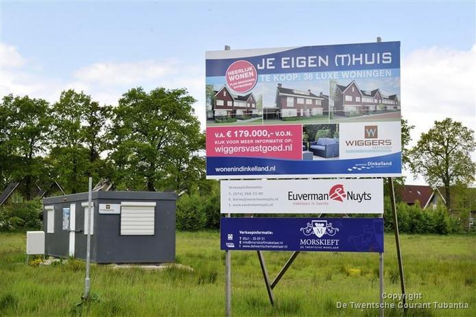 Veel irritatie over wateroverlast in de nieuwbouwwijk Brookhuis in Ootmarsum.